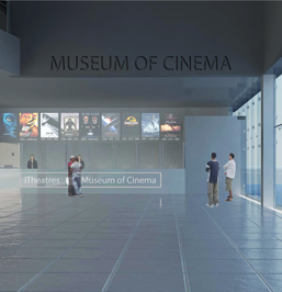 Rendering of the Museum of Cinema, located in the Ground Floor of the Apple iBuilding. By FutureKraft Designs.